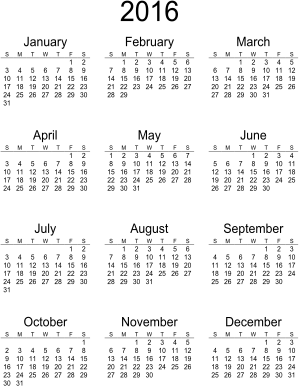 Beautiful Printable Calendars: Word Doc and PDF - BeauCal.com